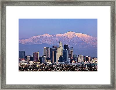Cityscape, Los Angeles Framed Print by Kenny Hung Photography