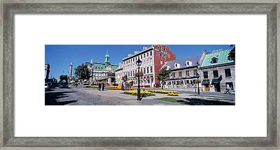 Cityscape Montreal Quebec Canada Framed Print by Panoramic Images