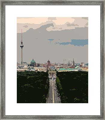 Cityscape Of Berlin - Painting Effect Framed Print