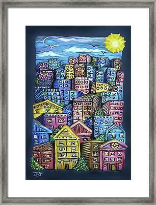 Cityscape Sculpture Framed Print