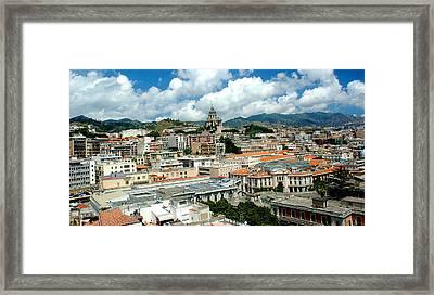 Cityscape Town Of Messina Sicily Italy Framed Print by M Morina A Gurmankin