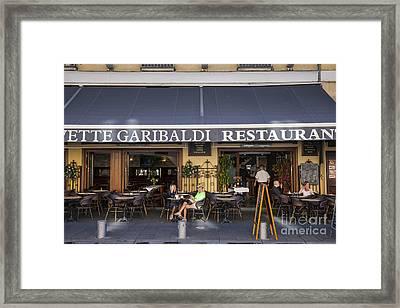 Civette Garibaldi Restaurant In Nice Framed Print