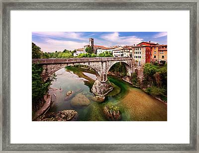 Framed Print featuring the photograph Cividale Del Friuli - Italy by Barry O Carroll