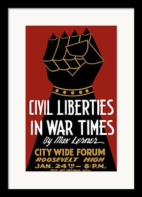 Civil Liberties Framed Prints