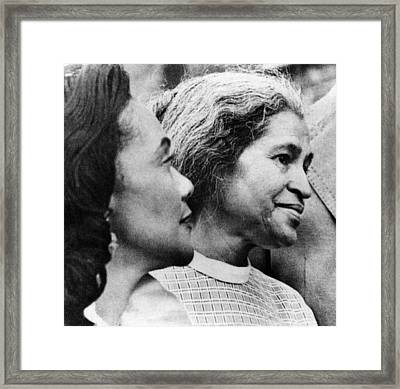 Civil Rights Activists Coretta King Framed Print