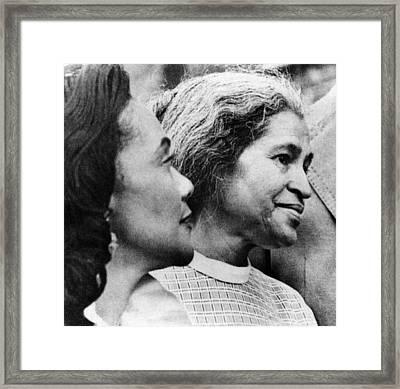 Civil Rights Activists Coretta King Framed Print by Everett