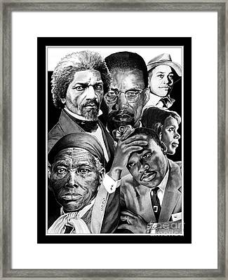 Civil Rights Collage Framed Print