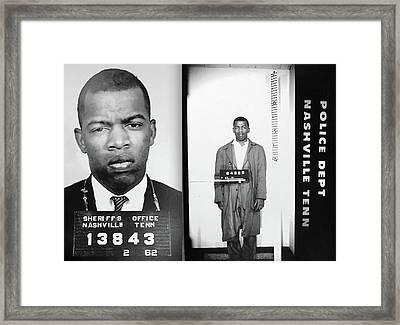 Civil Rights Leader John Lewis Mugshot Framed Print