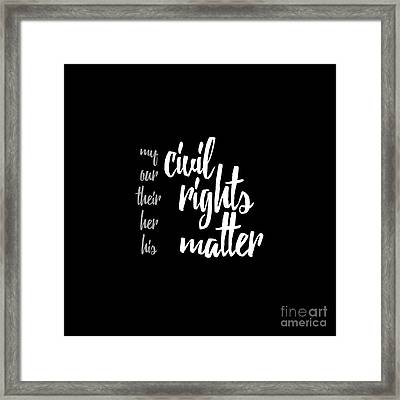 Civil Rights Framed Print