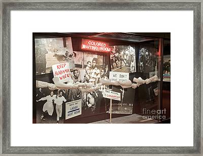 Civil Rights Movement Exhibit Framed Print by Inga Spence