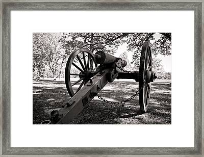Civil War Cannon Framed Print by Edward Myers