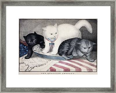 Civil War: Cartoon, C1865 Framed Print by Granger