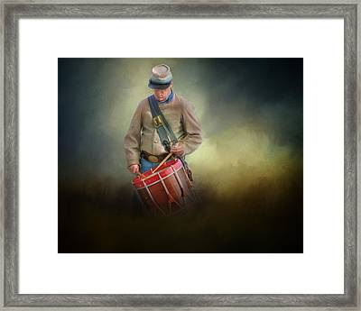 Civil War Drummer Boy Framed Print by David and Carol Kelly