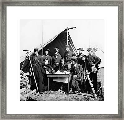 Civil War: Engineers, 1862 Framed Print by Granger