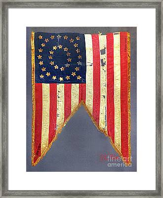 Civil War Flag With 35-stars Framed Print by To-Tam Gerwe