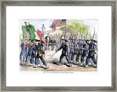 Civil War: Garibaldi Guard Framed Print by Granger