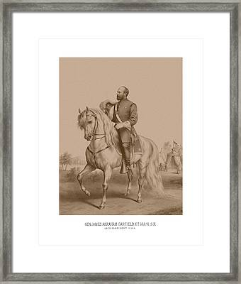 Civil War General James Garfield Framed Print by War Is Hell Store