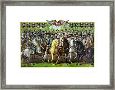 Civil War Generals And Statesman Framed Print by War Is Hell Store