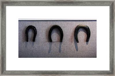 Civil War Horse Shoes Framed Print by Joyce Kimble Smith