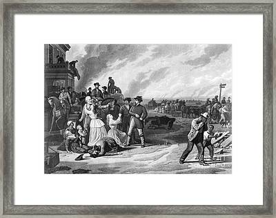 Civil War: Martial Law Framed Print by Granger