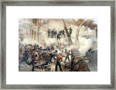 Civil War Naval Battle Framed Print