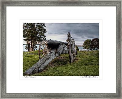 Framed Print featuring the photograph Civil War Rifle by Richard Bean