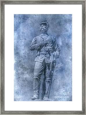 Civil War Soldier Statue Clarion Park Framed Print