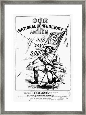 Civil War: Songsheet, C1861 Framed Print