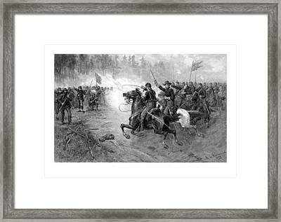 Civil War Union Cavalry Charge Framed Print