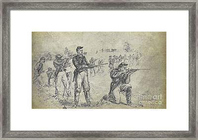 Civil War Union Cavalry Troopers Framed Print by Randy Steele