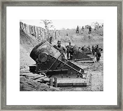 Civil War: Union Mortars Framed Print by Granger