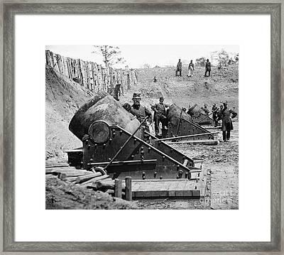 Civil War: Union Mortars Framed Print by Granger