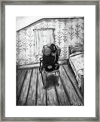 Rhode Island Civil War, Vacant Chair Framed Print