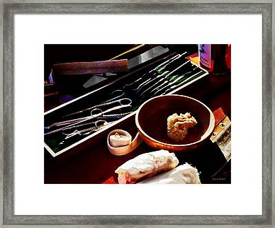 Civil Was Surgical Instruments Framed Print