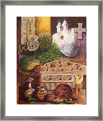 Civilizations Of Paquime Framed Print by Candy Mayer