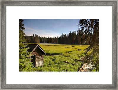 Clackamas Meadow Pump House- 2 Framed Print