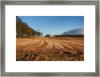 Framed Print featuring the photograph Clackmannanshire Countryside by Jeremy Lavender Photography
