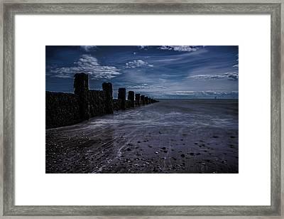 Clacton Beach Essex Framed Print by Martin Newman