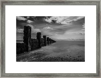 Clacton Beach Framed Print by Martin Newman