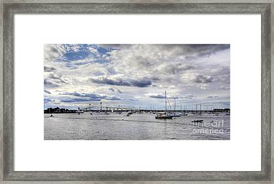 Framed Print featuring the photograph Claiborne Pell Newport Bridge by Adrian LaRoque