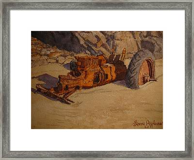 Claimed By The Sea Framed Print