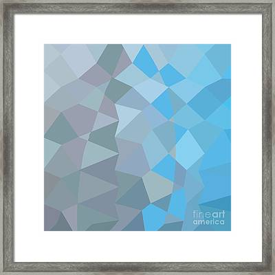 Clair De Lune Grey Abstract Low Polygon Background Framed Print