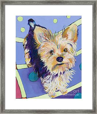 Claire Framed Print by Pat Saunders-White