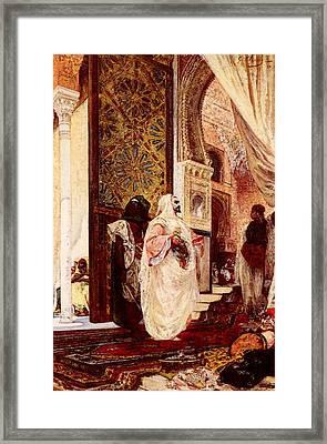 Clairin Georges Jules Victor Entering The Harem Framed Print