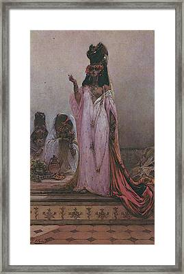 Clairin Georges Jules Victor Harem Woman Framed Print