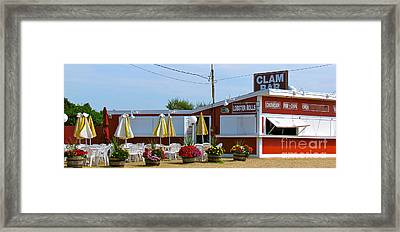 Clam Bar Framed Print by Beth Saffer