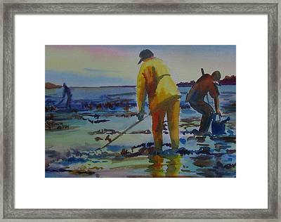 Clam Diggers Framed Print by Linda Emerson