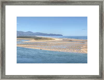 Clam Digging Morning Framed Print by Kristina Rinell