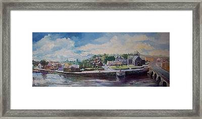 Framed Print featuring the painting Clancy Strand-limerick-ireland by Paul Weerasekera