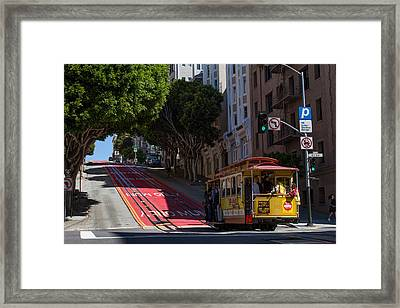 Clang Clang Goes The Cable Car Framed Print